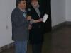 Dyrektor Centralnego Muzeum Włókiennictwa Pan Norbert Zawisz i Prezes Stowarzyszenia Miłosników Haftu Kanwa Pani Halina Lesniewska otworzyli wystawę